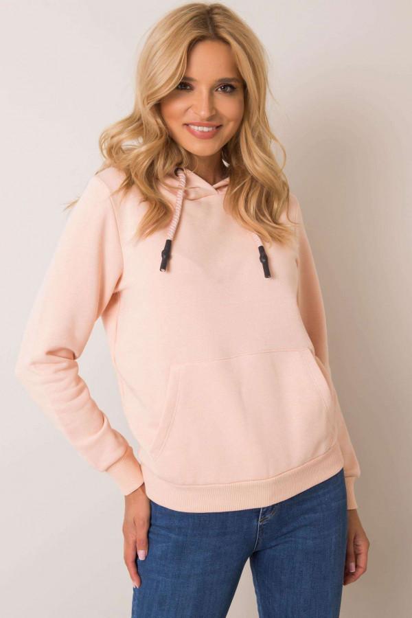 Różowa bluza kangur z kieszenią Lavo