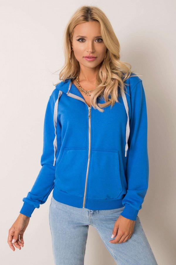 Niebieska bluza rozpinana z kieszeniami Sallo