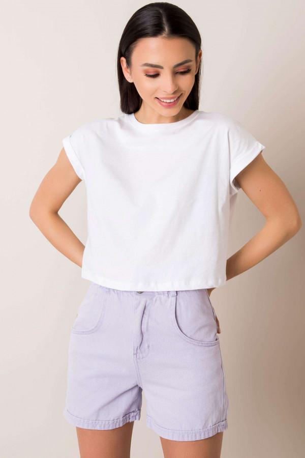 Biały t-shirt crop top Spone
