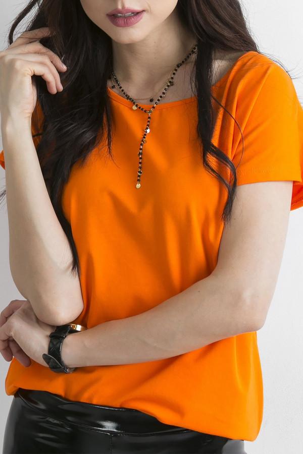 Pomarańczowy t-shirt basic Rough
