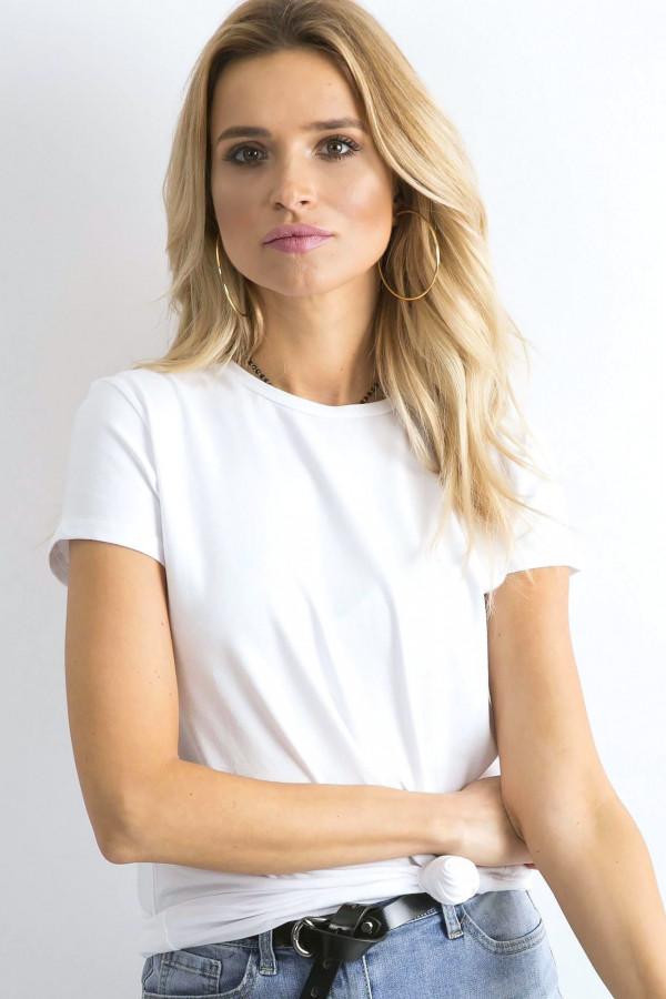 Biały t-shirt O-Neck Esma