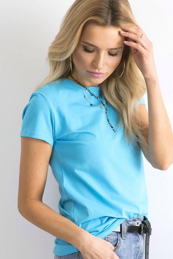 Niebieski t-shirt O-Neck Esma