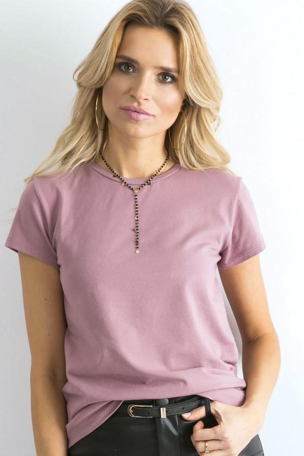 Wrzosowy t-shirt O-Neck Esma