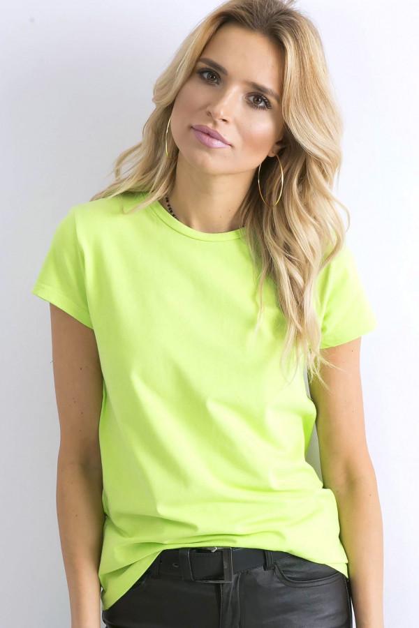 Limonkowy t-shirt O-Neck Esma