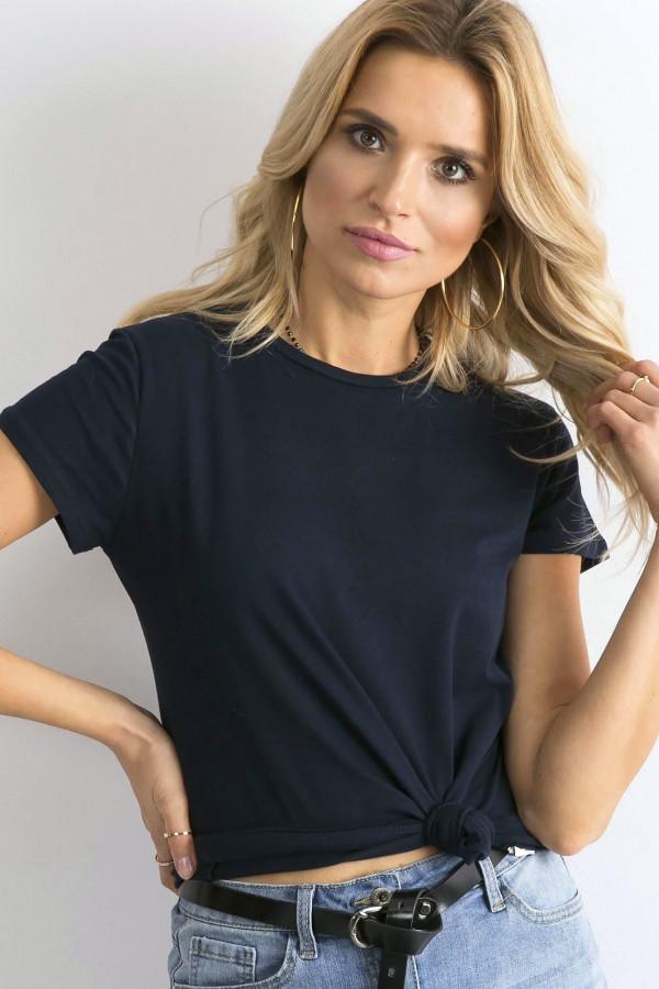 Granatowy t-shirt O-Neck Esma