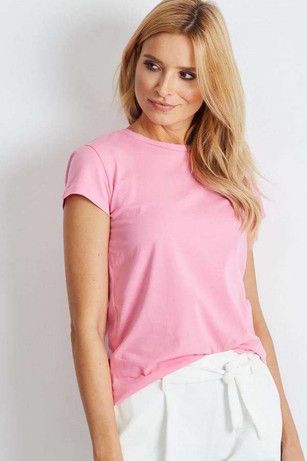 Jasnoróżowy t-shirt O-Neck Esma