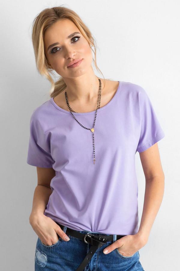 Fioletowy t-shirt z wycięciem na plecach Sofie
