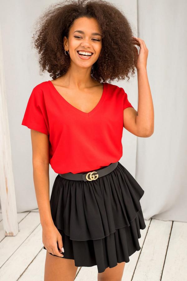 Czerwony t-shirt V-Neck Gala