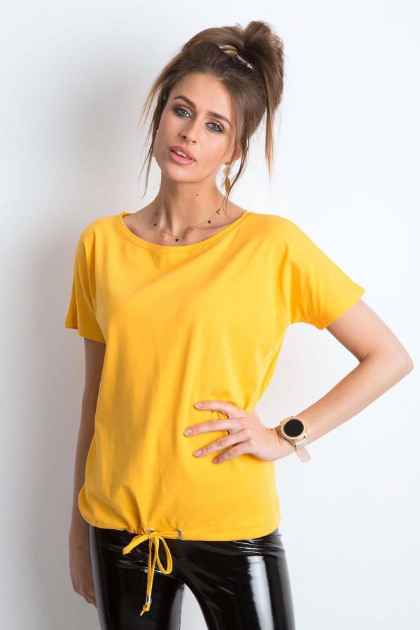 Jasnopomarańczowy t-shirt z wiązaniem Faso