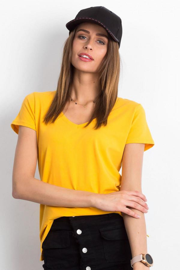 Jasnopomarańczowy t-shirt z dekoltem V-Neck Amy