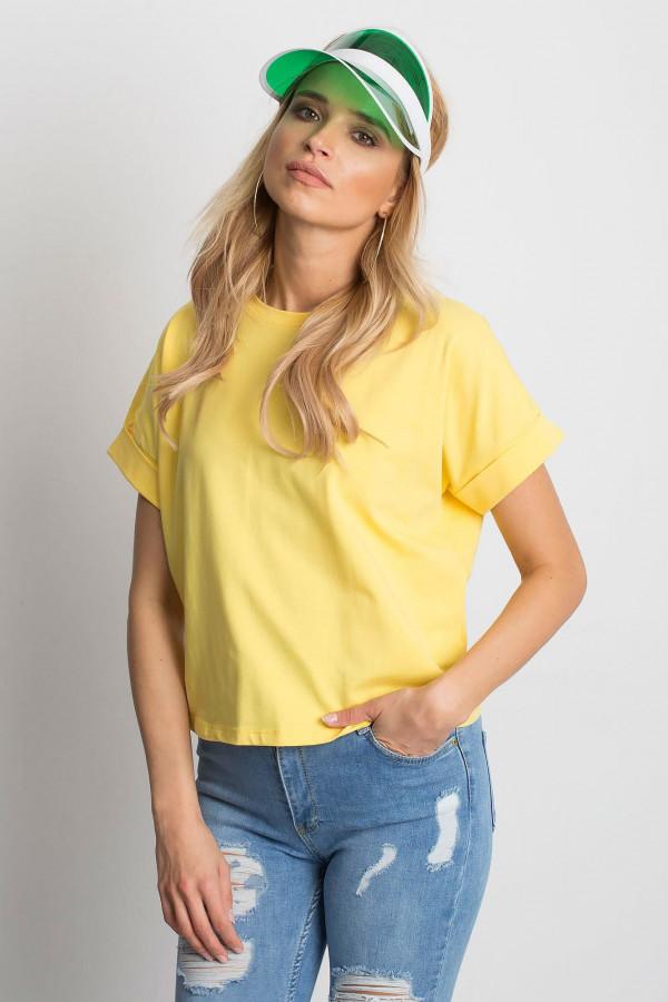 Żółty luźny t-shirt Blink
