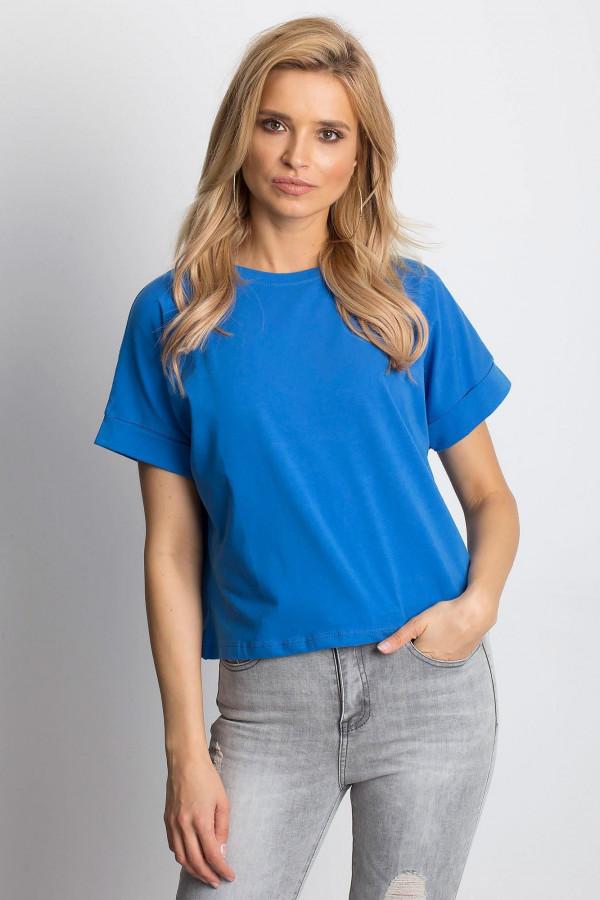 Ciemnoniebieski luźny t-shirt Blink