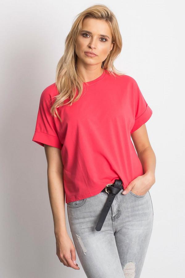 Koralowy luźny t-shirt Blink