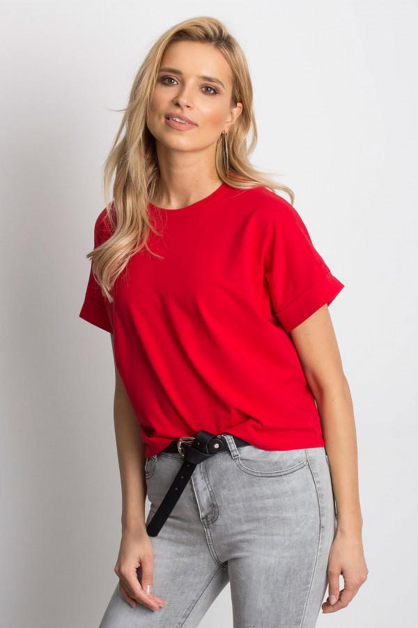 Czerwony luźny t-shirt Blink
