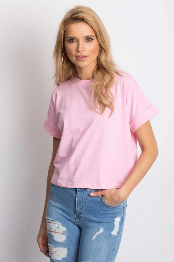 Różowy luźny t-shirt Blink