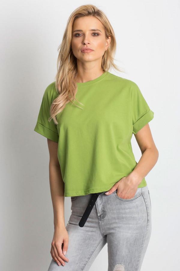 Zielony luźny t-shirt Blink