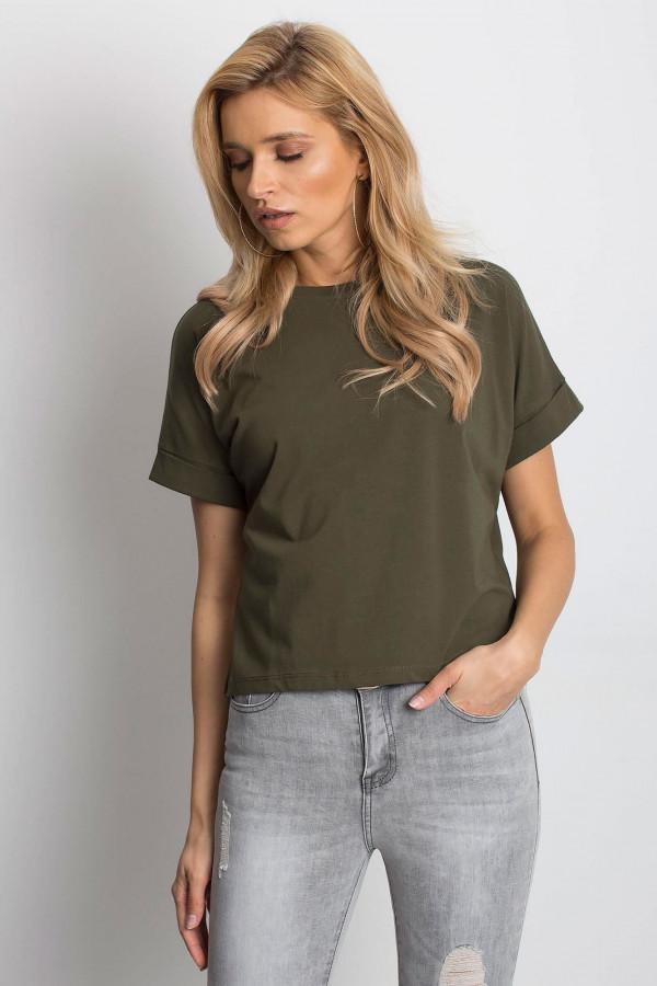 Khaki luźny t-shirt Blink