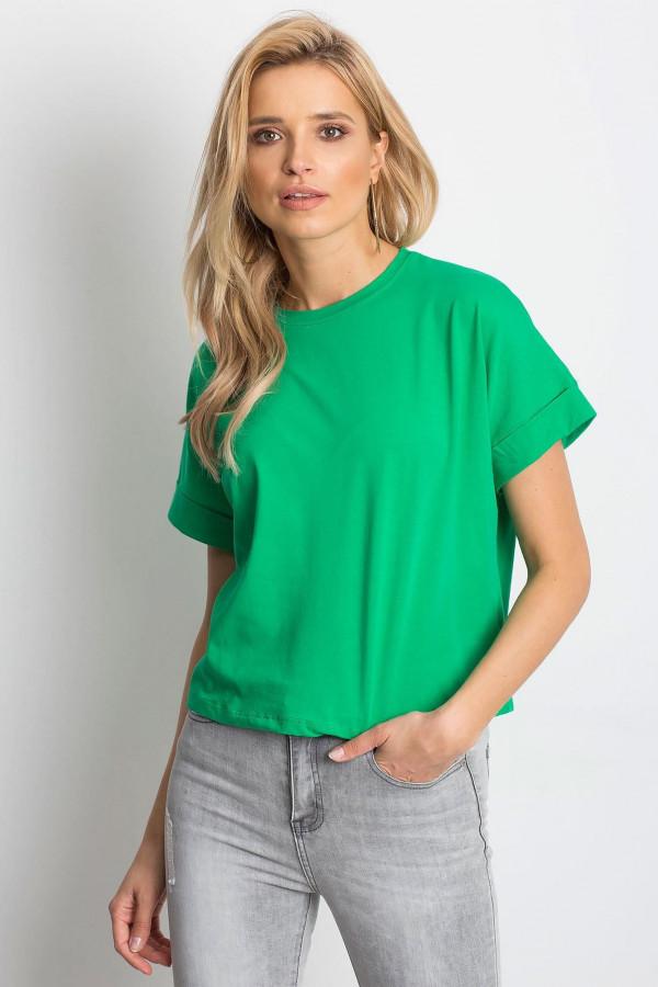 Ciemnozielony luźny t-shirt Blink