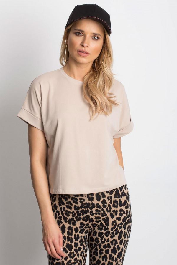 Jasnokawowy luźny t-shirt Blink