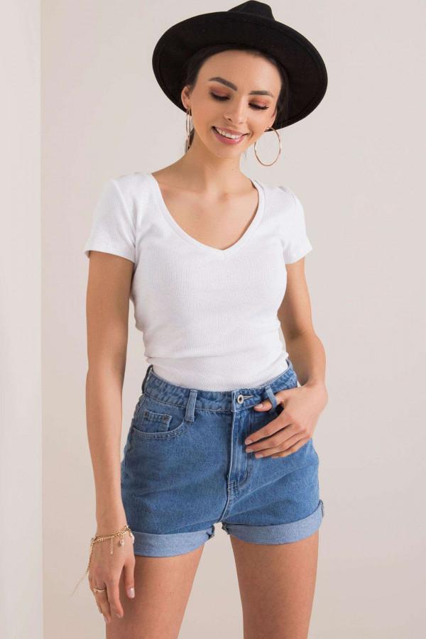 Biały prążkowany t-shirt Better