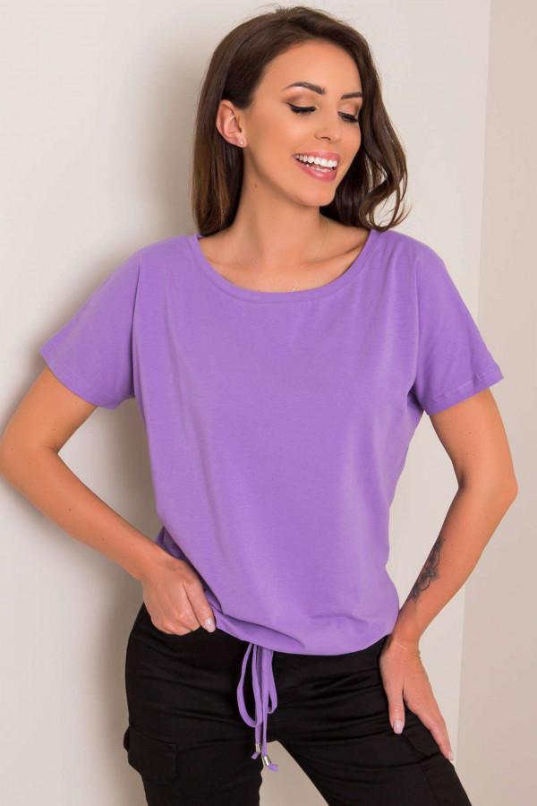 Fioletowy t-shirt z wiązaniem Faso