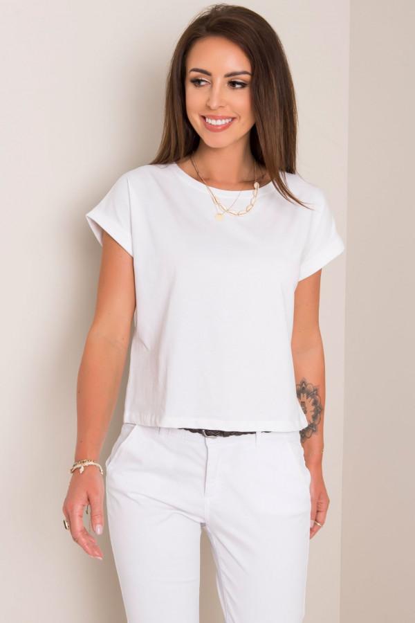 Biały pro-ekologiczny t-shirt Leaf