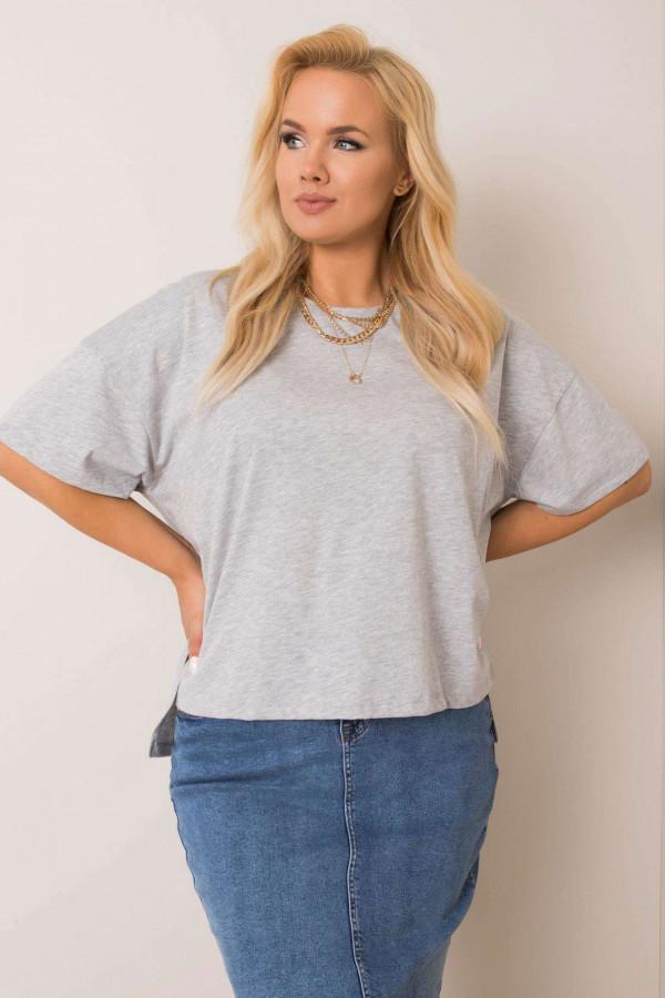 Szary t-shirt plus size Wish