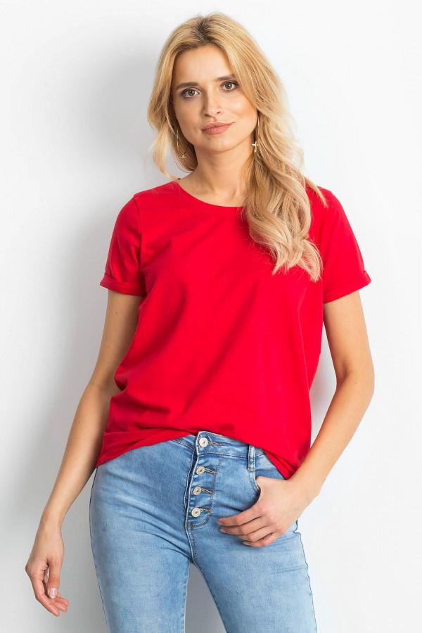Czerwony t-shirt O-Neck Kasom