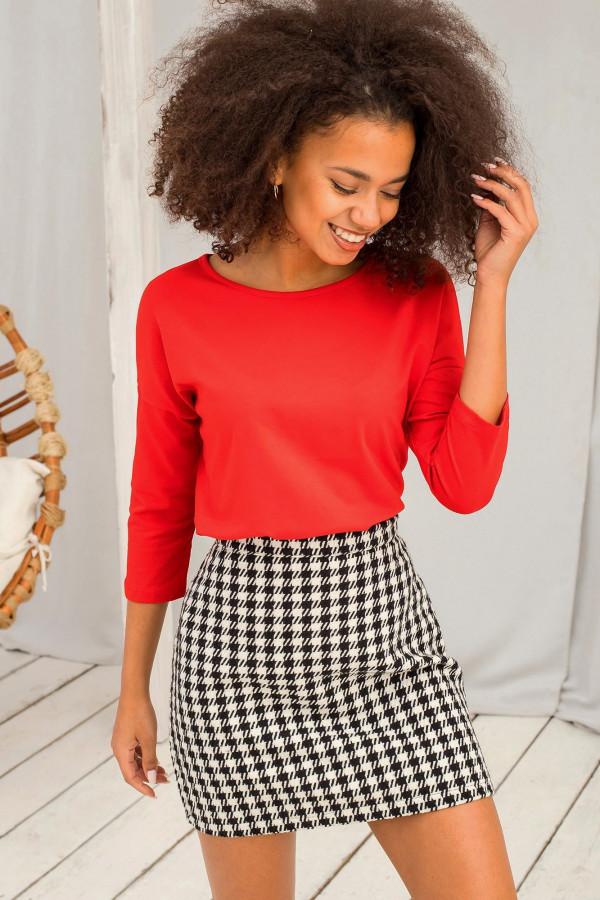 Czerwona gładka bluzka Summer