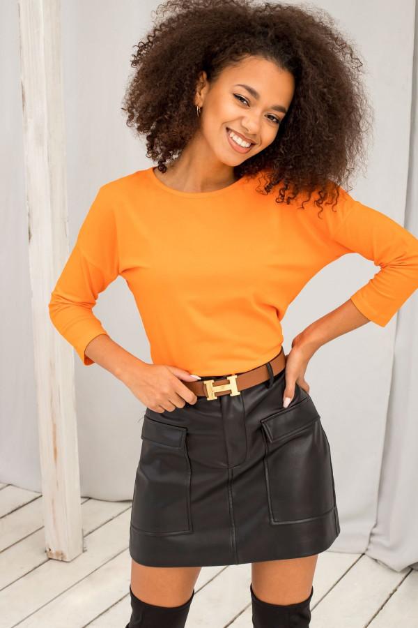 Pomarańczowa gładka bluzka Summer