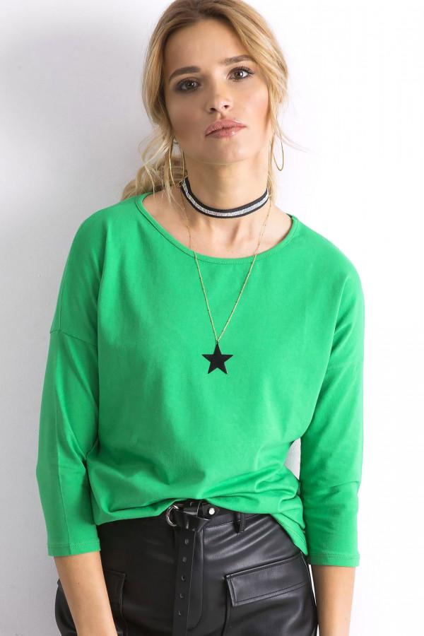 Zielona gładka bluzka Summer