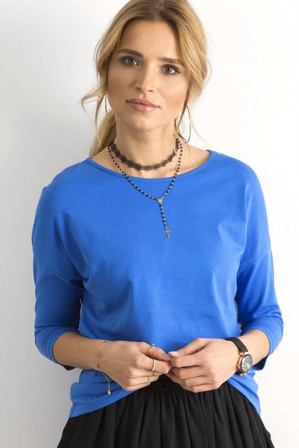 Niebieska gładka bluzka Summer