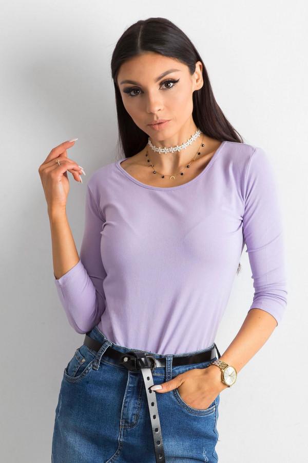 Fioletowa bluzka O-Neck Sara