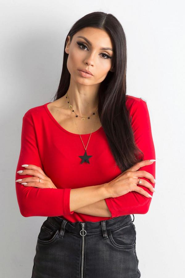 Czerwona bluzka O-Neck Sara