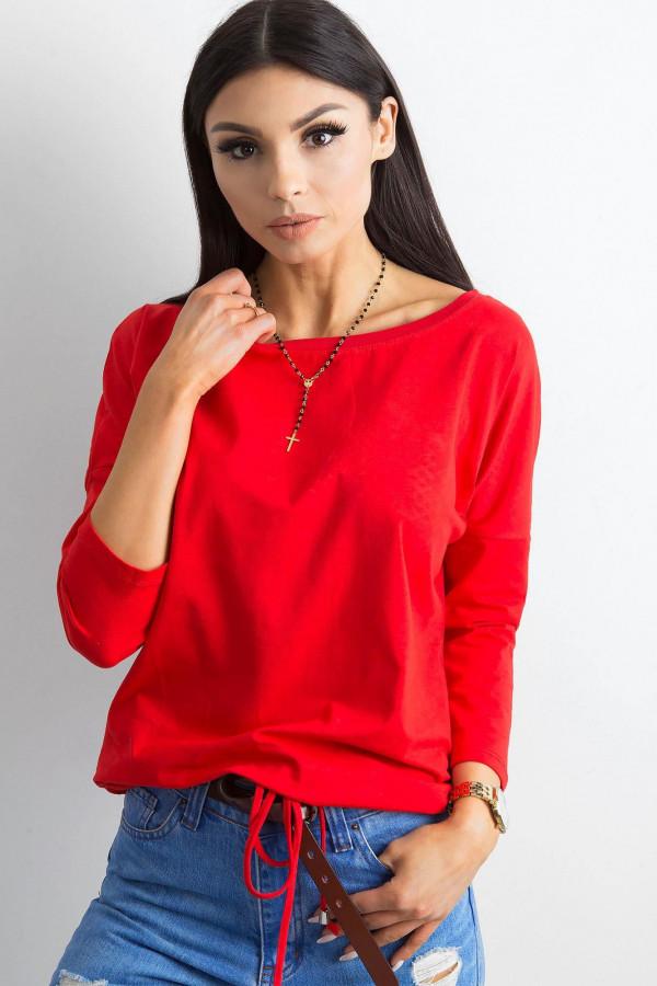 Czerwona bluzka ze ściągaczem Taurus