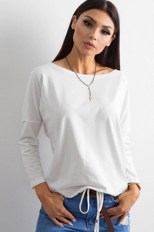 Biała bluzka ze ściągaczem Taurus