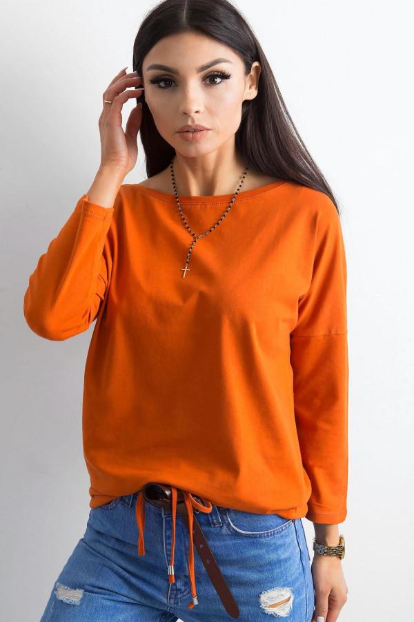 Ciemnopomarańczowa bluzka ze ściągaczem Taurus