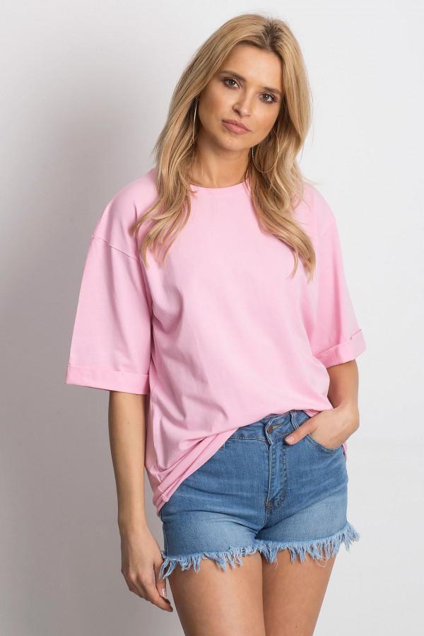 Różowy oversizeowy t-shirt Gimmie