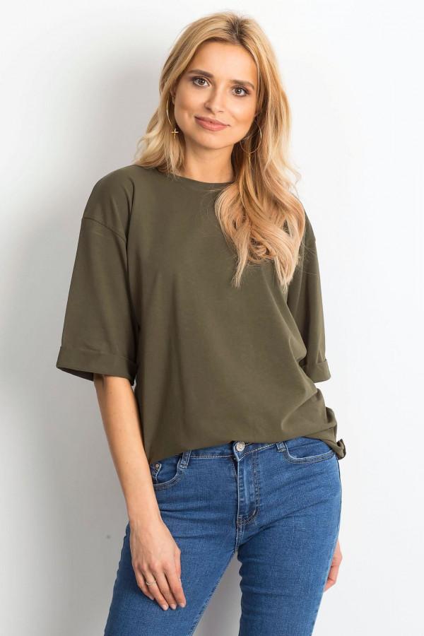 Khaki oversizeowy t-shirt Gimmie