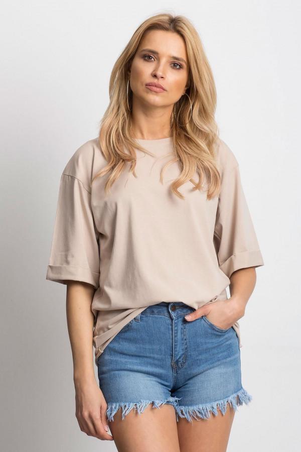Jasnokawowy oversizeowy t-shirt Gimmie