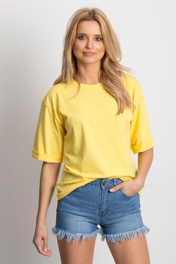 Żółty oversizeowy t-shirt Gimmie