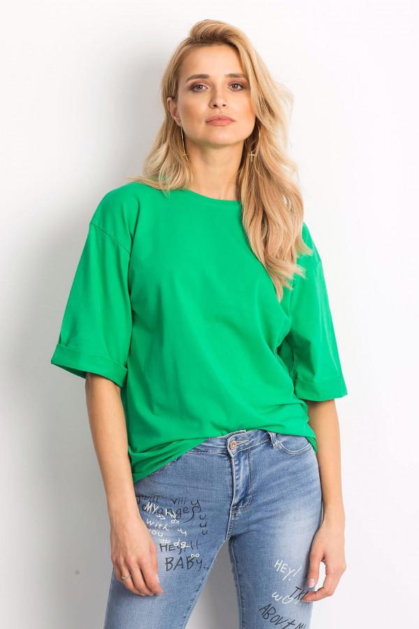 Ciemnozielony oversizeowy t-shirt Gimmie