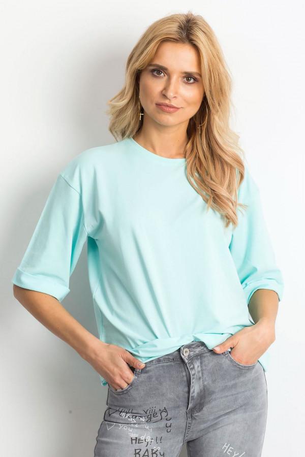 Miętowy oversizeowy t-shirt Gimmie