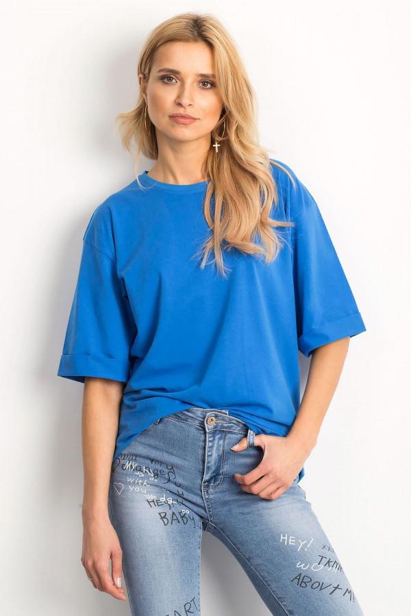 Ciemnoniebieski oversizeowy t-shirt Gimmie