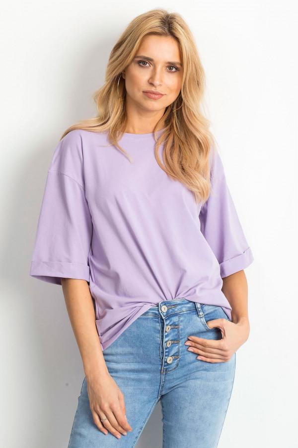 Jasnofioletowy oversizeowy t-shirt Gimmie
