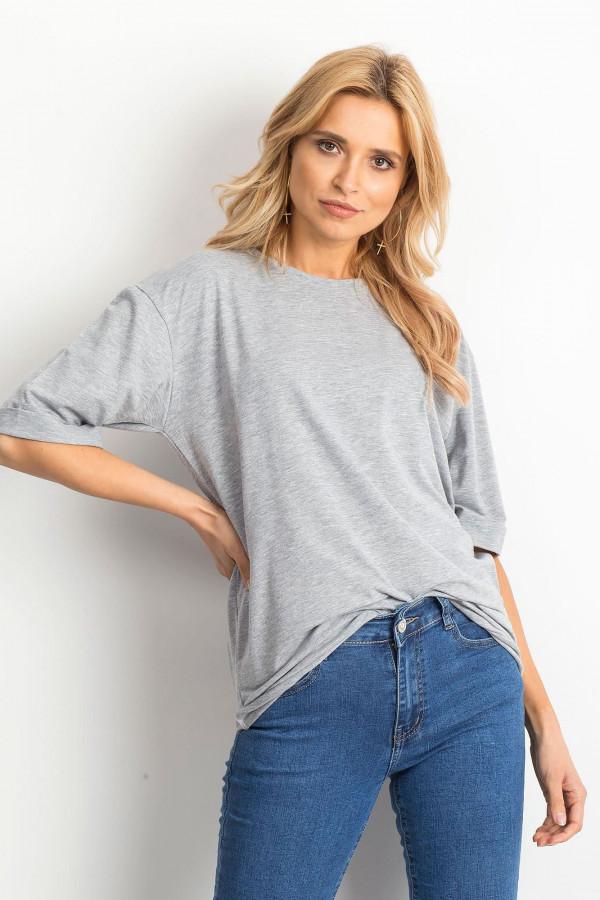 Szary oversizeowy t-shirt Gimmie