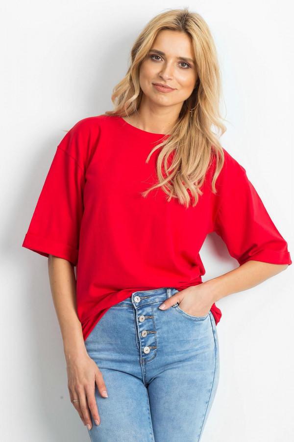 Czerwony oversizeowy t-shirt Gimmie