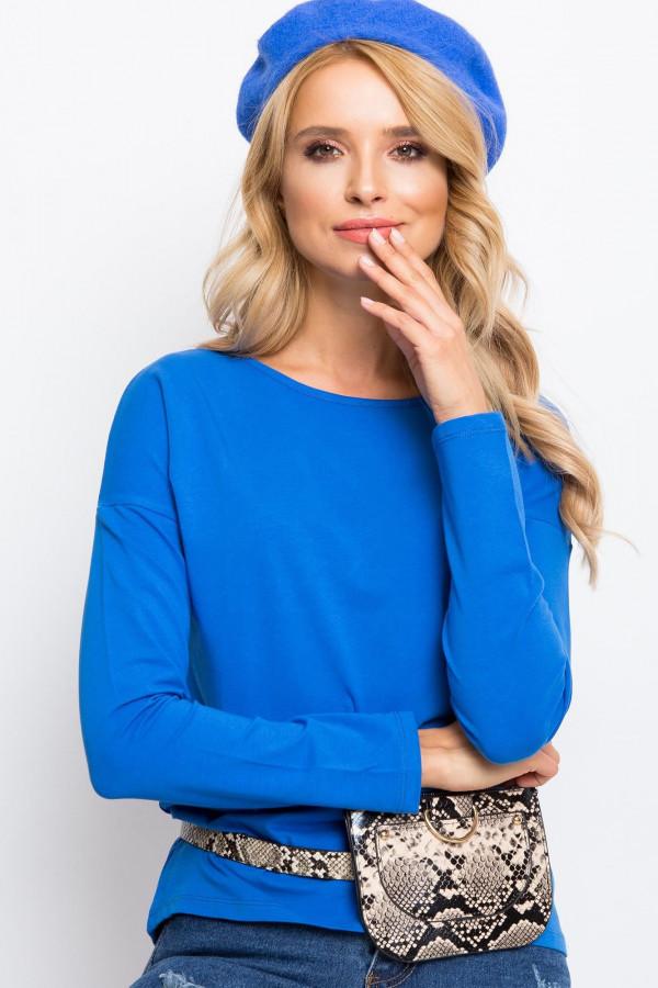 Niebieska bluzka z długim rękawem Says