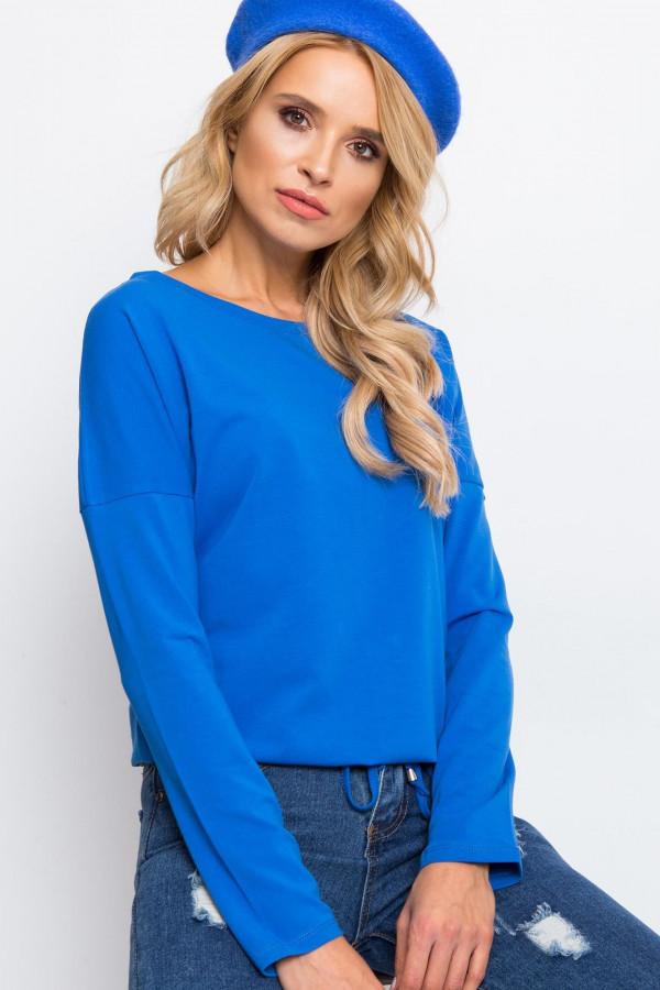 Niebieska bluzka ze ściągaczem Nadir