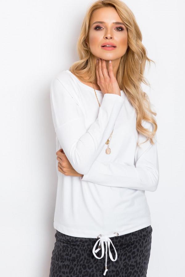 Biała bluzka ze ściągaczem Nadir